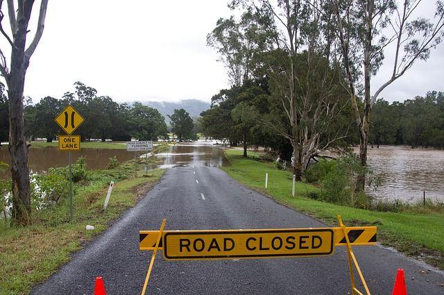 洪水から20mほど離れている写真