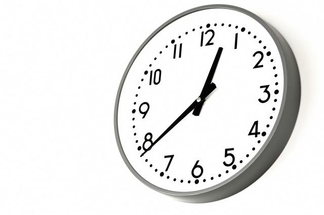 壁掛け時計の写真
